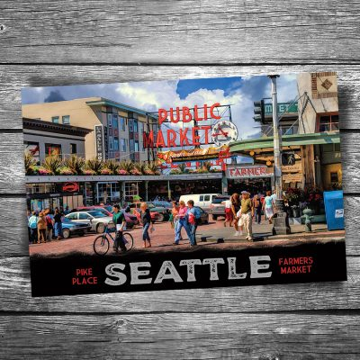 Seattle Pike Place Market Postcard