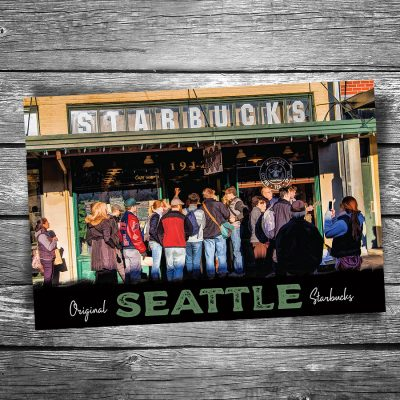 Seattle Original Starbucks Postcard
