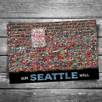 Seattle Gum Wall Postcard