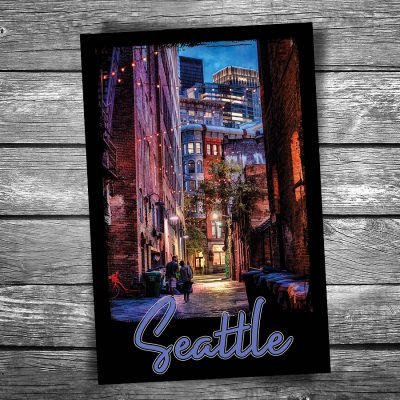 Seattle Alley Postcard