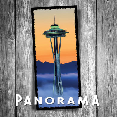Seattle Space Needle Panorama Postcard