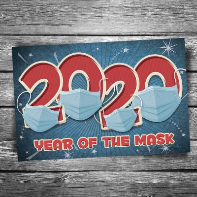 Year of the Mask 2020 Postcard