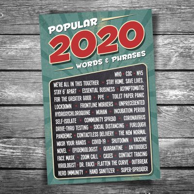 Words and Phrases of 2020 Postcard