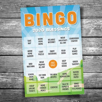 Bingo 2020 Blessings Postcard