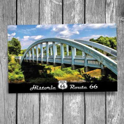 Route 66 Rainbow Bridge Postcard
