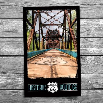 Route 66 Chain of Rocks Bridge Postcard