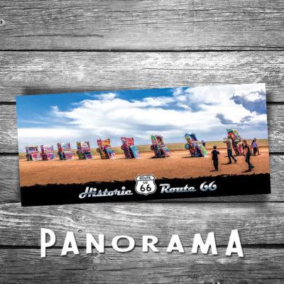Cadillac Ranch Panorama Postcard