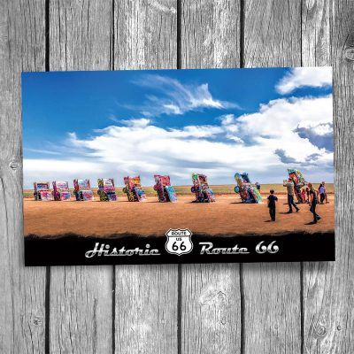 Route 66 Cadillac Ranch Postcard