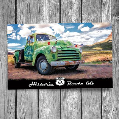 Route 66 Chevy Truck Postcard