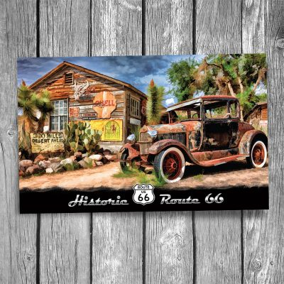 Route 66 Hackberry General Store Postcard