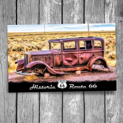 Route 66 1932 Studebaker Postcard