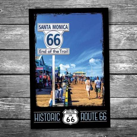 Route 66 Santa Barbara Pier Postcard