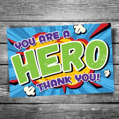 You are a Hero Postcard