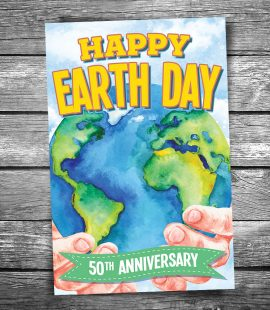 Earth Day 50th Anniversary Postcard
