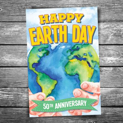 Earth Day 50th Anniversary Postcard