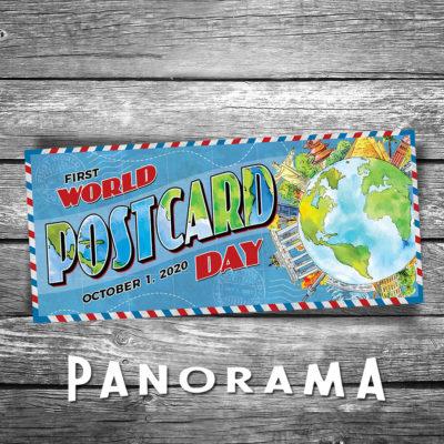 World Postcard Day Panorama Postcard