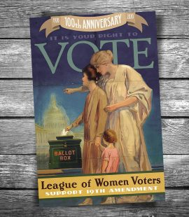 Women Vote 19th Amendment Postcard