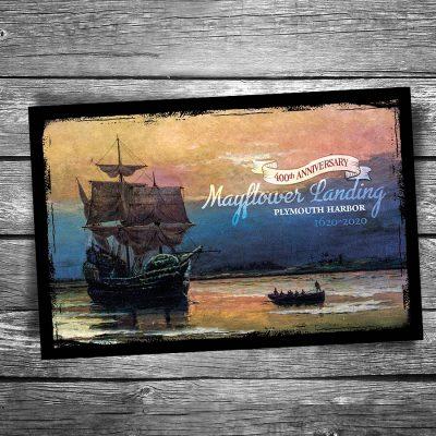 Mayflower Landing Postcard