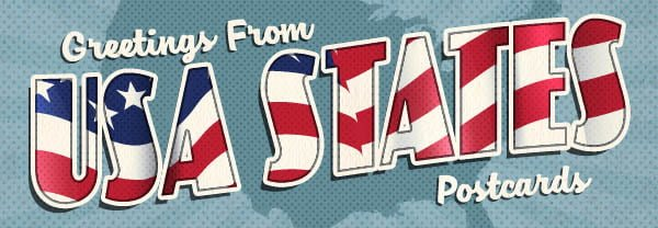 USA State Postcards
