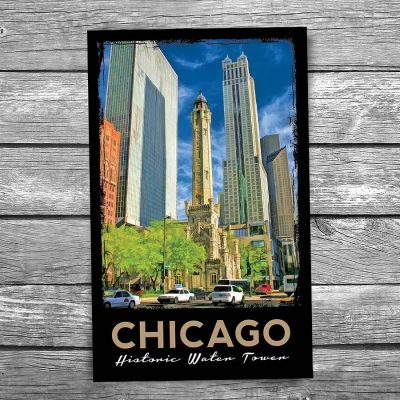 Chicago Historic Water Tower Postcard