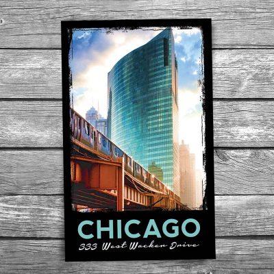333 W Wacker Drive Chicago Postcard