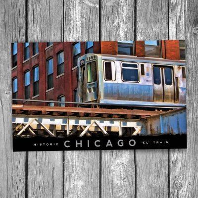 """Chicago """"El"""" Postcard"""