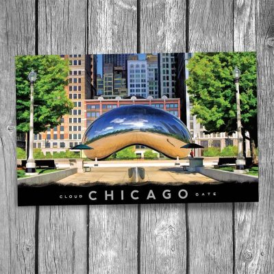 Cloud Gate Bean in Millennium Park Chicago Postcard