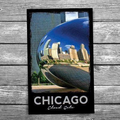 Cloud Gate Bean Side Chicago Postcard