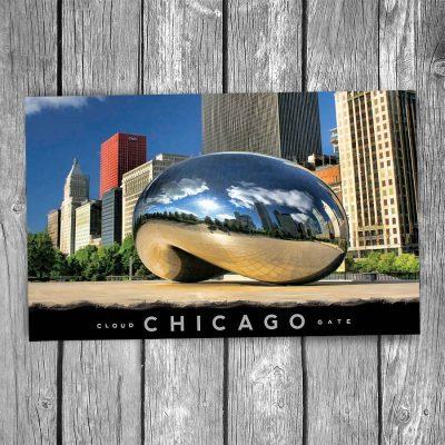Cloud Gate Bean Michigan Ave Chicago Postcard