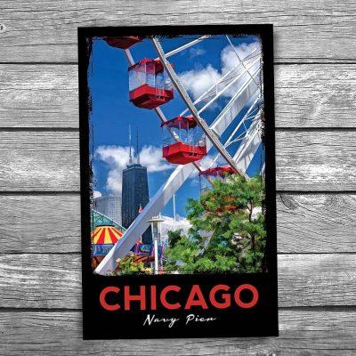 Navy Pier Ferris Wheel Chicago Postcard