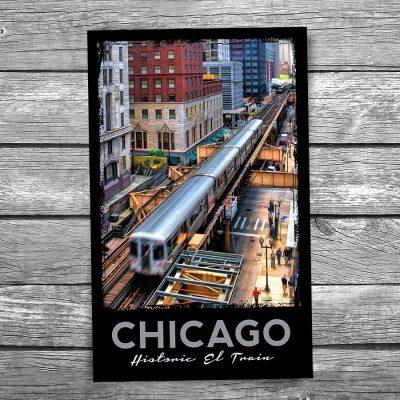 """Chicago """"EL"""" Loop Postcard"""
