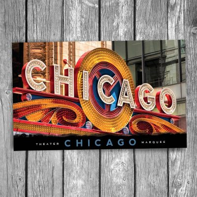 Chicago Theatre Marquee Sign Postcard