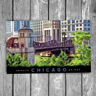 Franklin Street Bridge Chicago Postcard