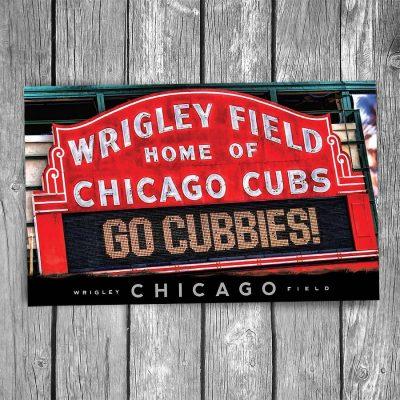 Wrigley Field Sign Postcard
