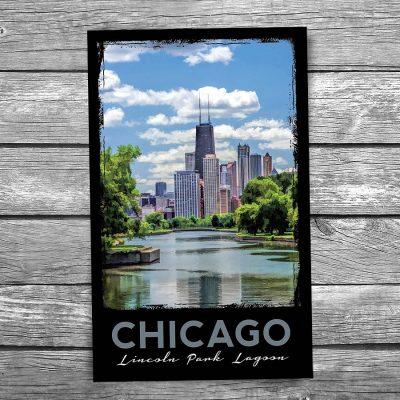 Lincoln Park Lagoon Chicago Postcard