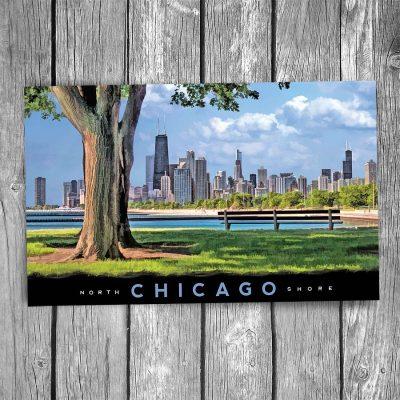 Chicago Northshore Skyline Postcard