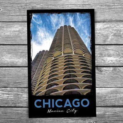 Marina City Towers Chicago Postcard