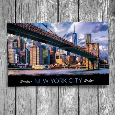 Brooklyn Bridge New York City Postcard