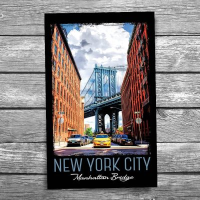 Manhattan Bridge New York City Postcard