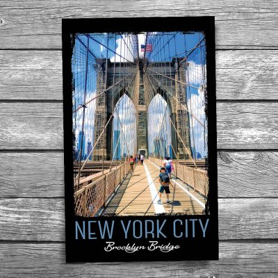 Brooklyn Bridge Walkway New York City Postcard