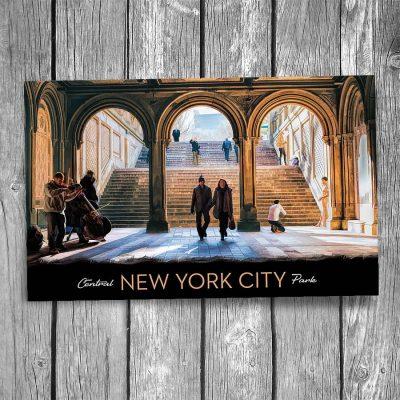 Central Park Bethesda Terrace Arcade New York City Postcard