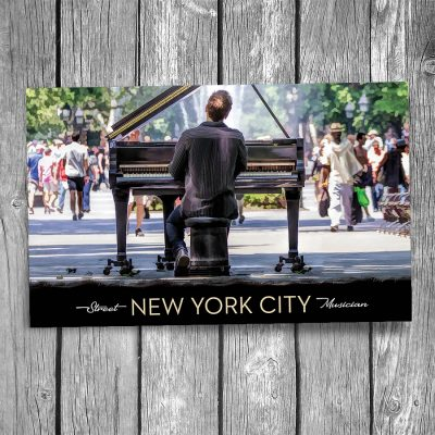 Washington Park Piano Player New York City Postcard