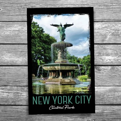 Central Park Bethesda Fountain New York City Postcard