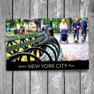 Central Park Benches New York City Postcard