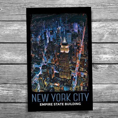 Empire State Building City Lights New York City Postcard