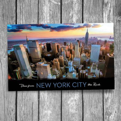Downtown Manhattan New York City Postcard