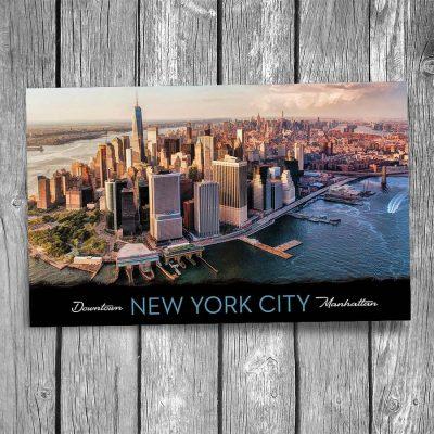 Manhattan Aerial View York City Postcard