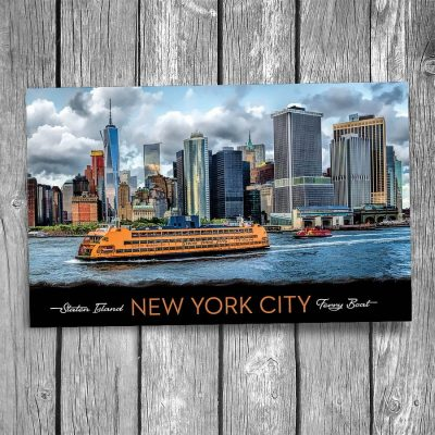 Staten Island Ferry New York City Postcard