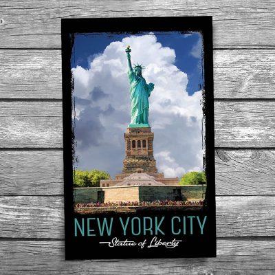Statue of Liberty New York City Vertical Postcard