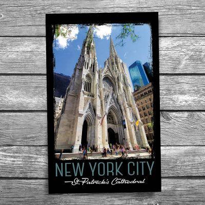 St Patrick's Cathedral Exterior New York City Postcard